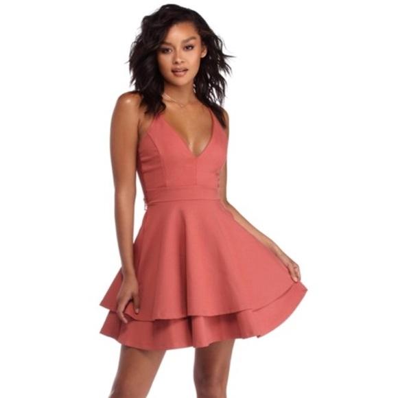 bb987b64c515b Windsor Dresses | Pretty Playful Mini Dress In Rust | Poshmark